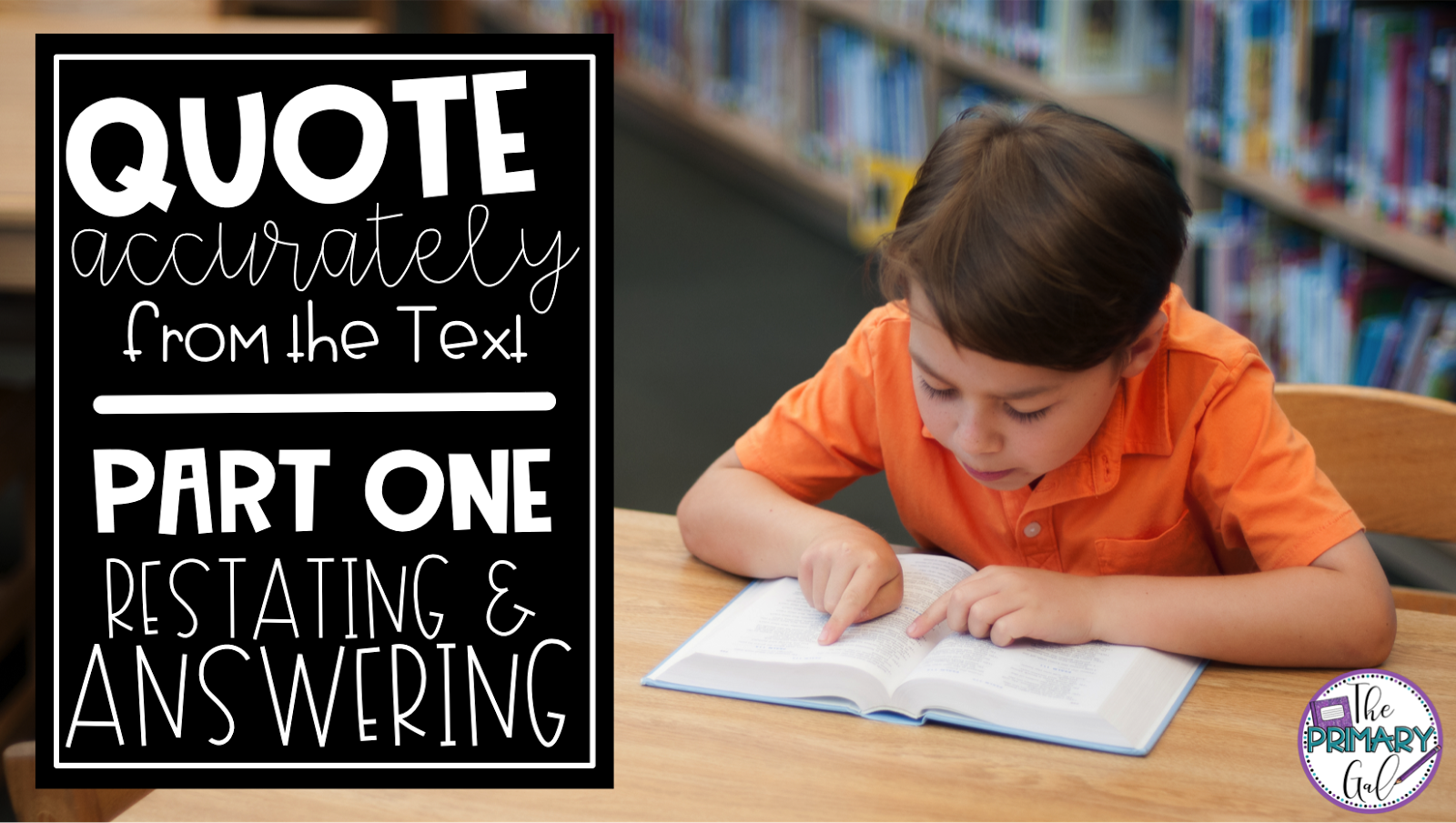 Finding a simple way to teach students to restate  & answer when quoting from text can be tricky. Luckily this blog post & printable can turn your lesson will turn into an engaging, thorough activity! Your elementary students can utilize this printable to answers questions about themselves that will help translate into restating & answering questions from other passages. Learning to slow down our brain & teach every part of the process will be much simpler! { elementary, reading, printable}