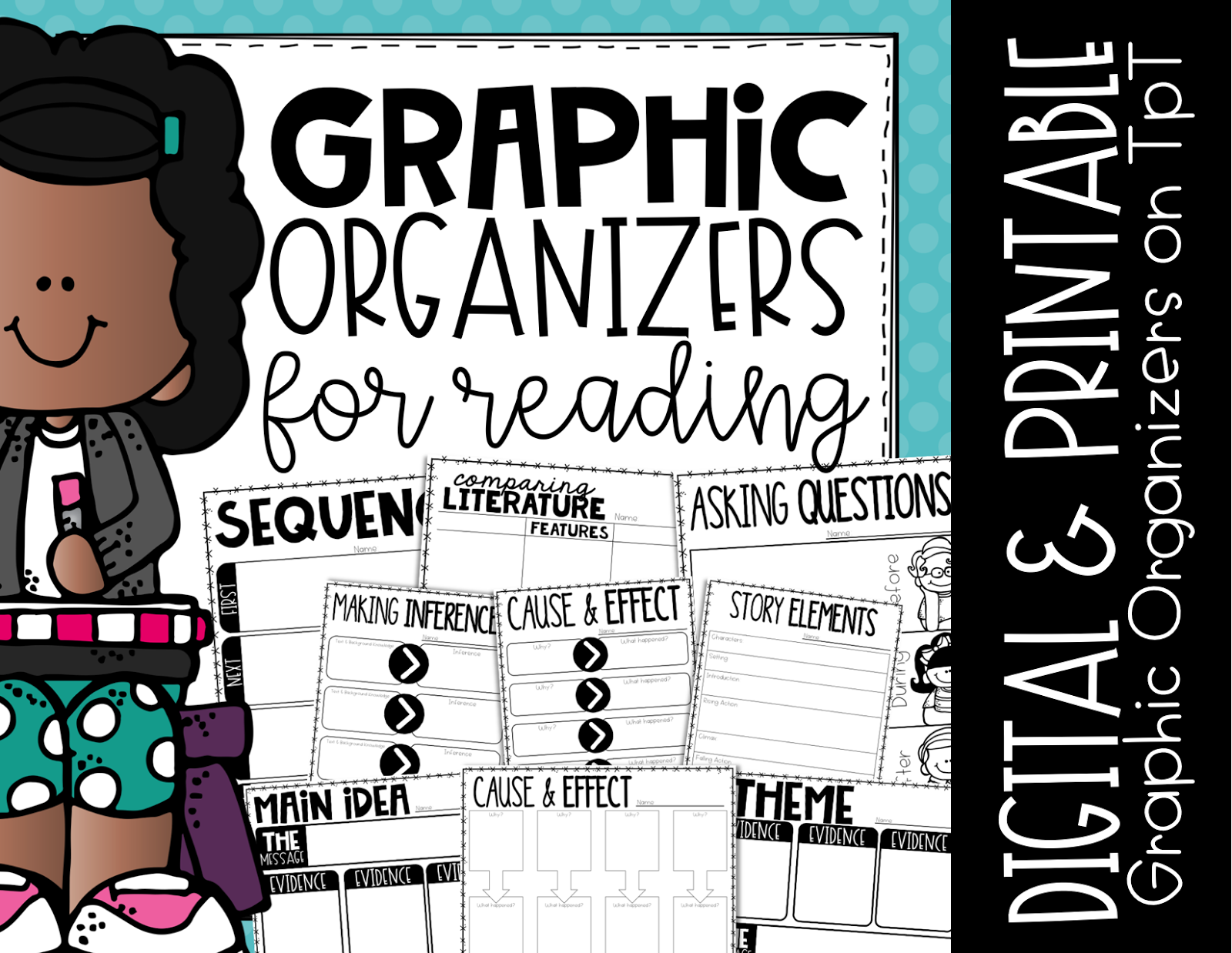 Using Mentor texts is fun way to teach or review reading comprehension to upper elementary students. These digital and printable graphic organizers are a fun way to engage , whether you utilize mentor texts in centers, small groups or the whole class. May is the month to celebrate Police Office Appreciation Week, plus it allows for your to choose books that may not fit in during other times of the year. {3rd, 4th, 5th, reading comprehension}