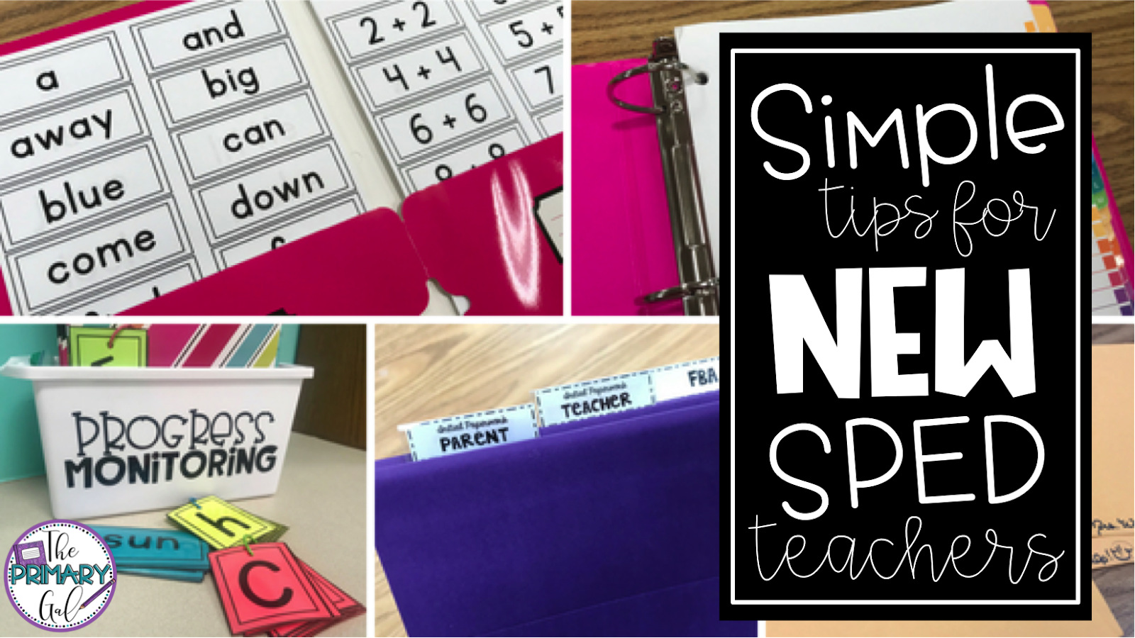 Being a Special Education teacher is incredibly rewarding and at times overwhelming. I address my simple tips and tricks for new teachers in this blog post and Tpt link. Whether you're reaching out to new coworkers, contacting parents at the beginning of the year, or implementing a new progress monitoring technique, everyone could use a few new ideas to help your year take shape.{new, tips, elementary, idea, special education, IEP}