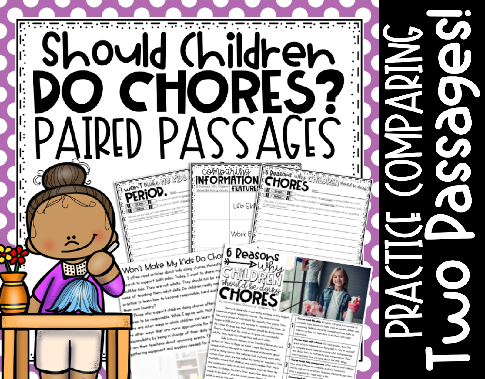 Click here for your fourth and fifth grade paired passages on TpT!