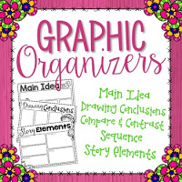 Click here for your FREE spring themed graphic organizers!