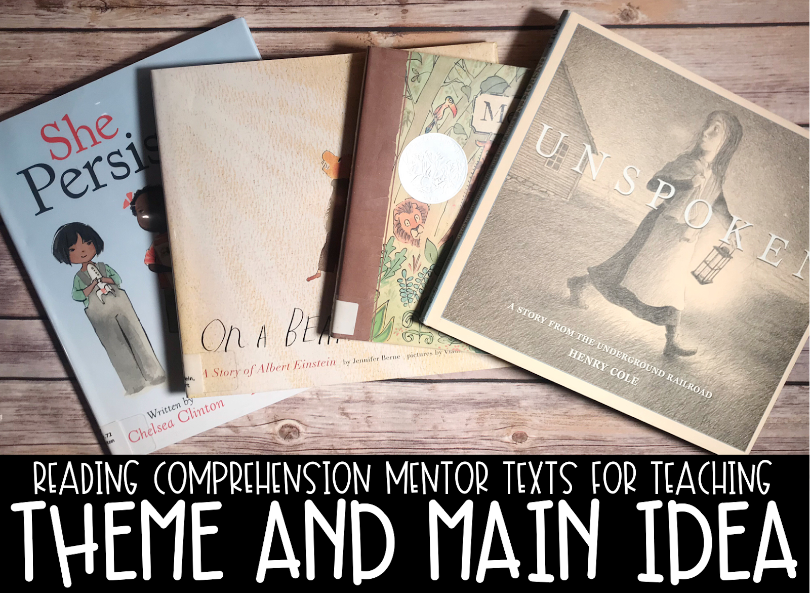 4 Mentor Texts on table