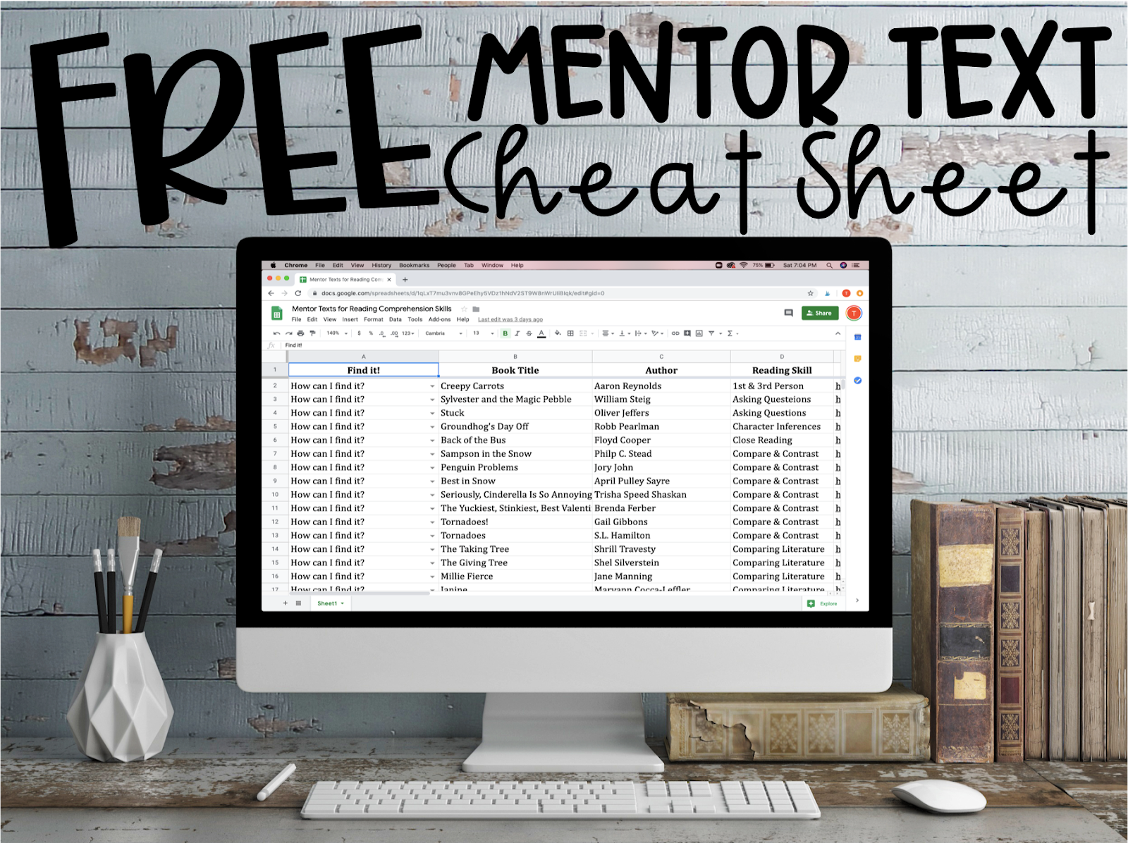 Click here for your FREE Mentor Text Cheat Sheet.