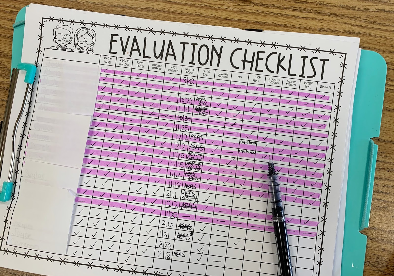 Free Evaluation Checklist for Special Education Teachers