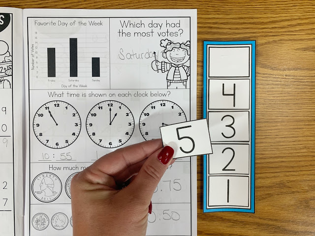 Math Intervention Workbook with Countdown/Token Board